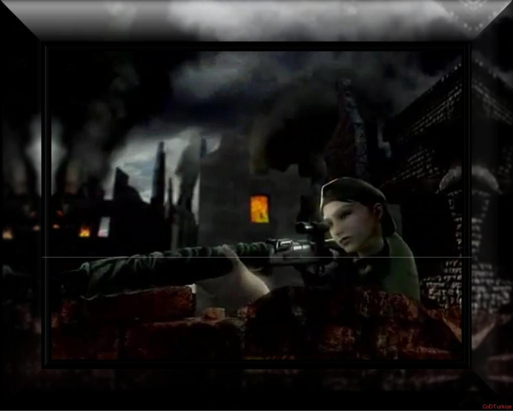 Call of Duty Finest Hour Woman Soldier Sniper