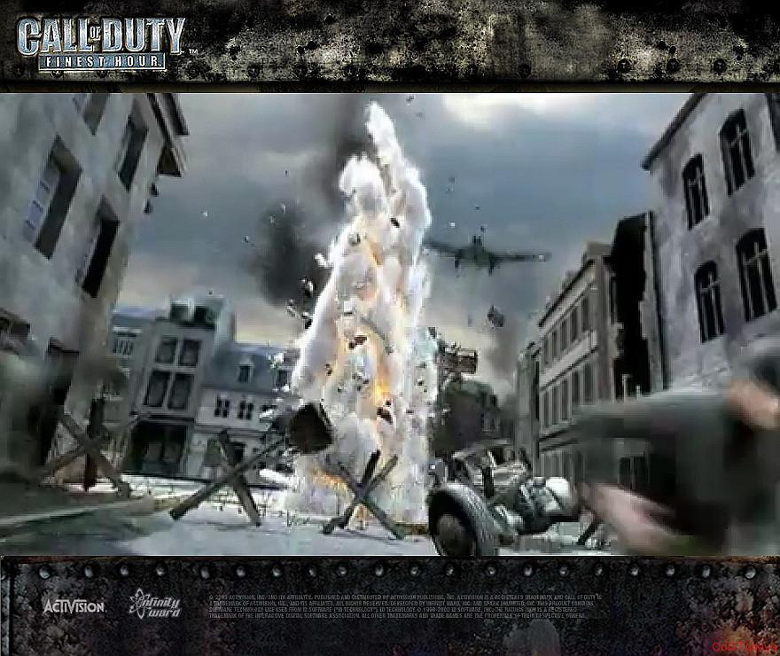 Call of Duty Finest Hour Wallpapers Plane Attack