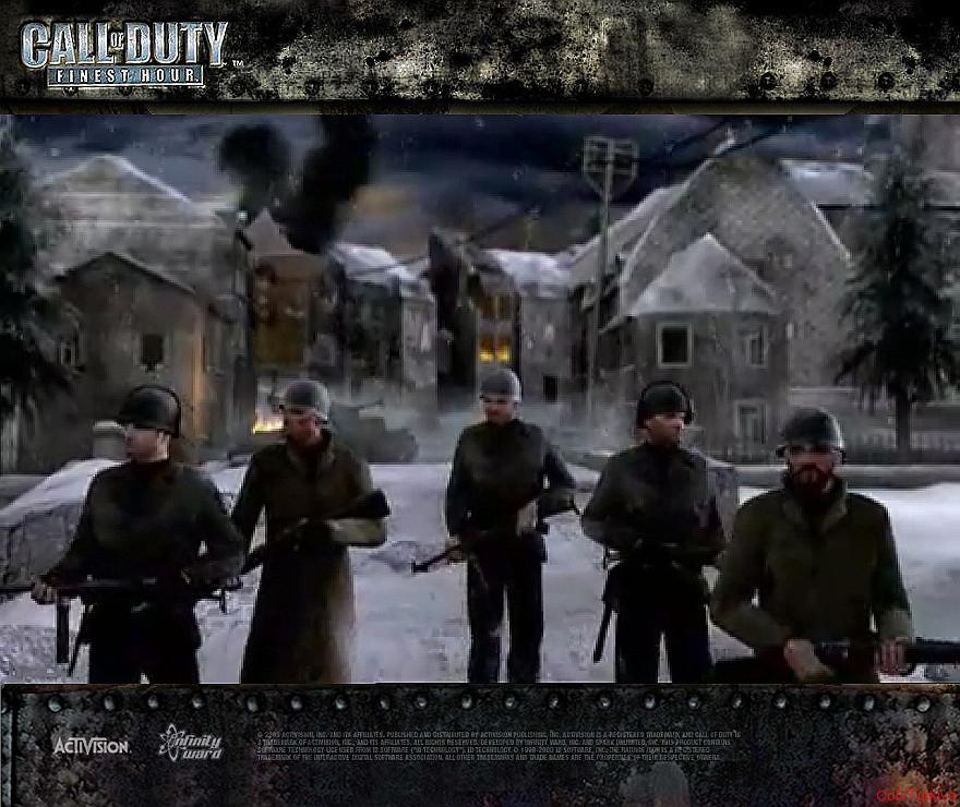 Call of Duty Finest Hour Wallpapers American Soldiers