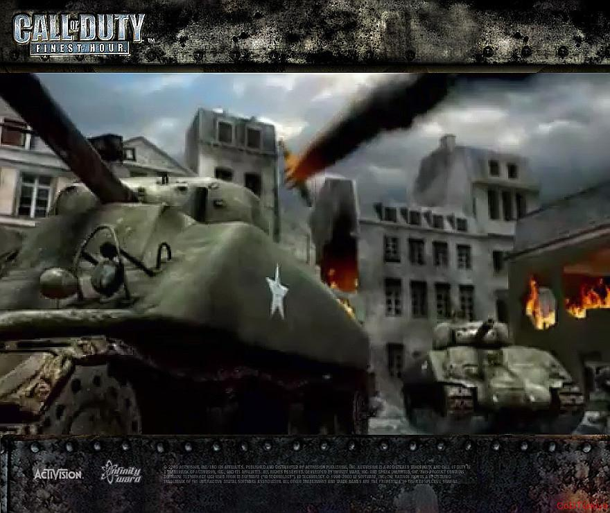 Call of Duty Finest Hour Wallpapers Two Tanks