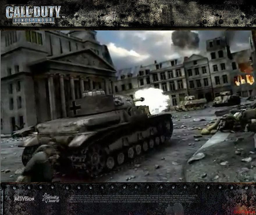 Call of Duty Finest Hour Wallpapers Firing Tank