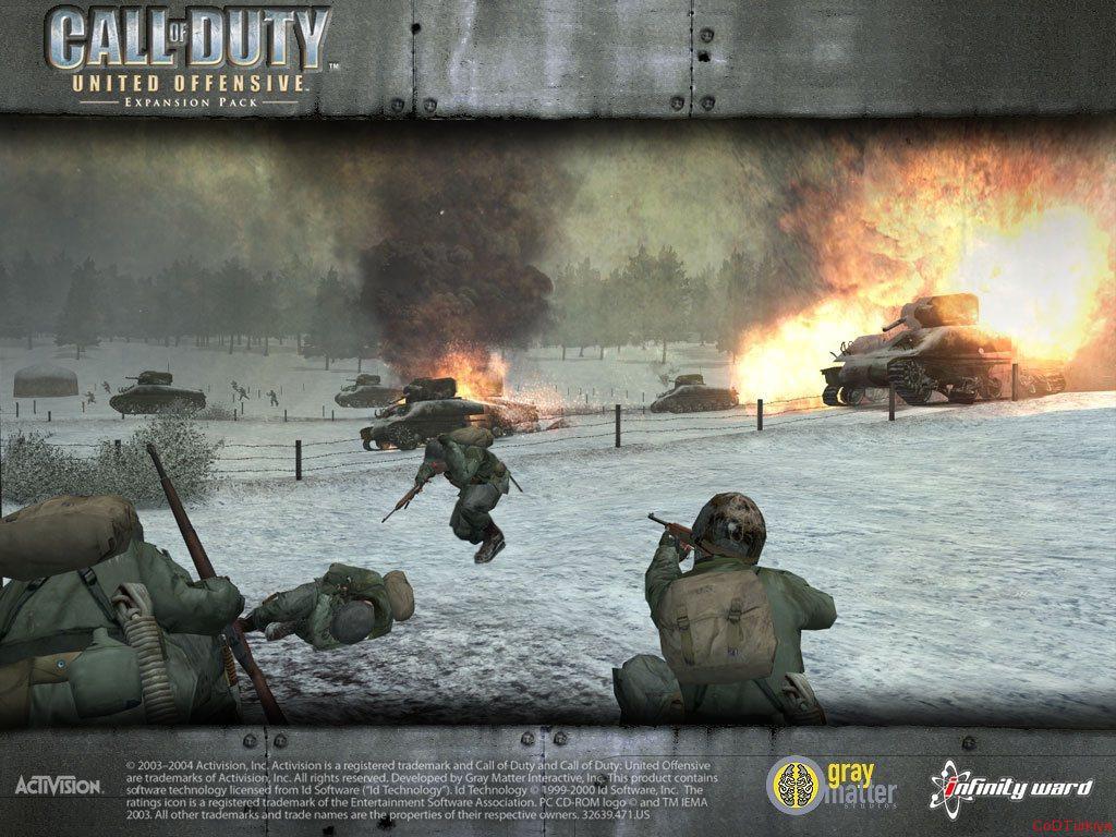 Call of Duty United Offensive Wallpapers Özel Çerçeve İçinde
