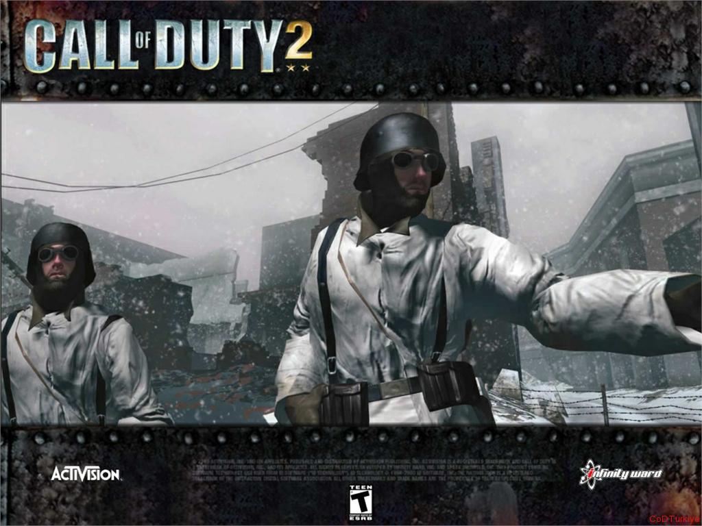 Call of Duty 2 Wallpapers Özel Çerçevede