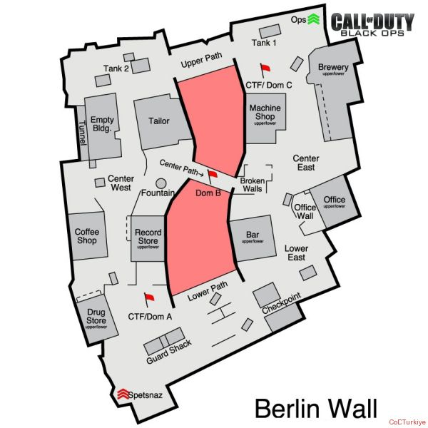 Call of Duty 7 Black Ops Map Berlin Wall