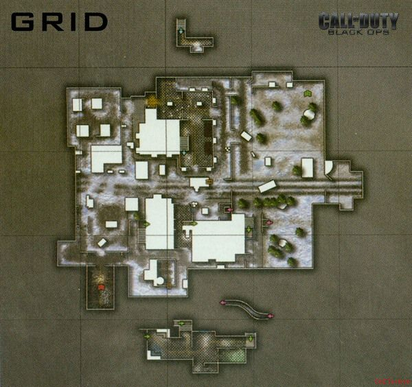 Call of Duty 7 Black Ops Map Grid