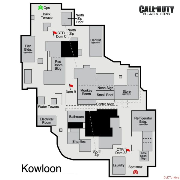 Call of Duty 7 Black Ops Map Kowloon