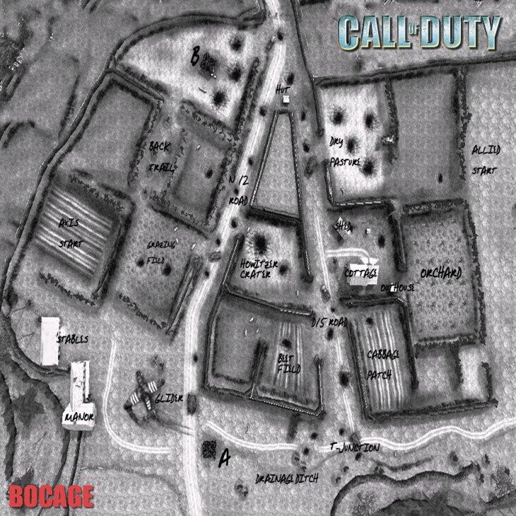 Call of Duty Multiplayer Map Taktik Görünüm Bocage