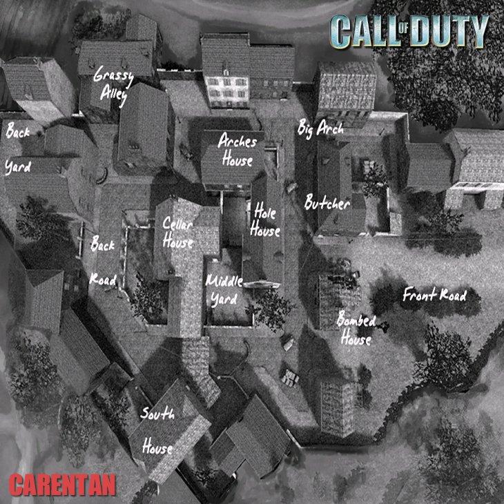 Call of Duty Multiplayer Map Taktik Görünüm Carentan