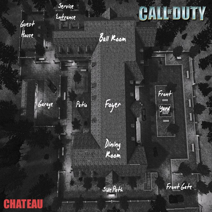Call of Duty Multiplayer Map Taktik Görünüm Chateau