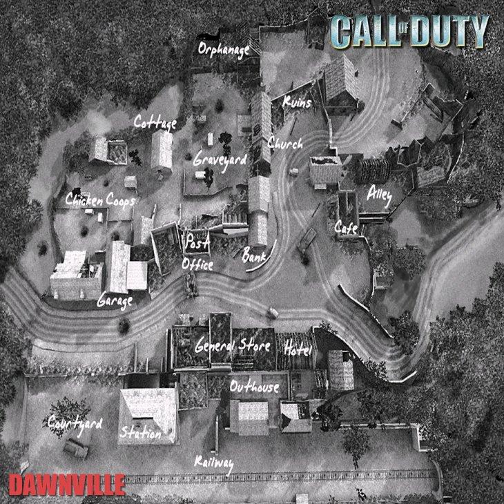 Call of Duty Multiplayer Map Taktik Görünüm Dawnville