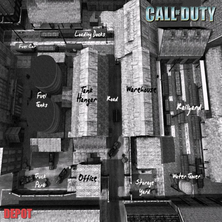 Call of Duty Multiplayer Map Taktik Görünüm Depot