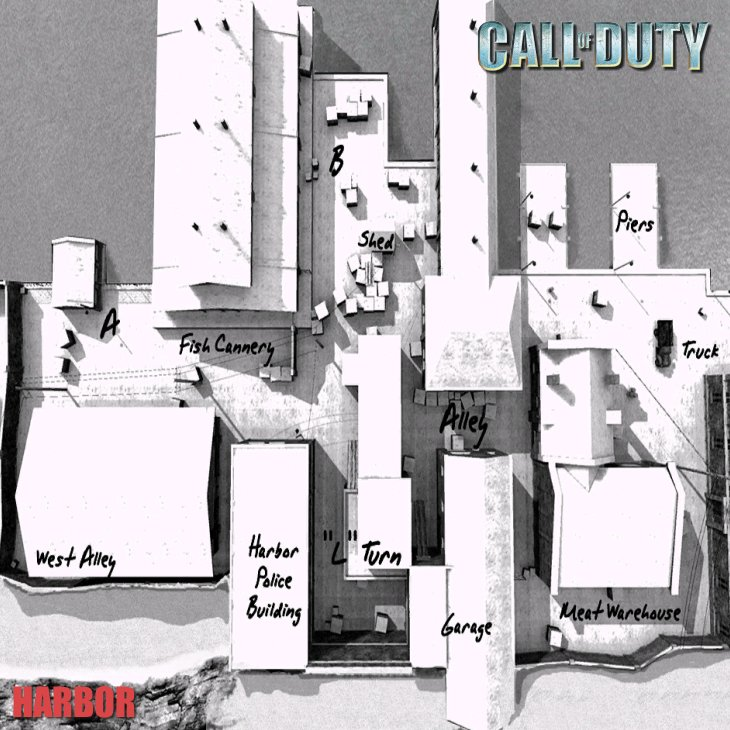 Call of Duty Multiplayer Map Taktik Görünüm Harbor