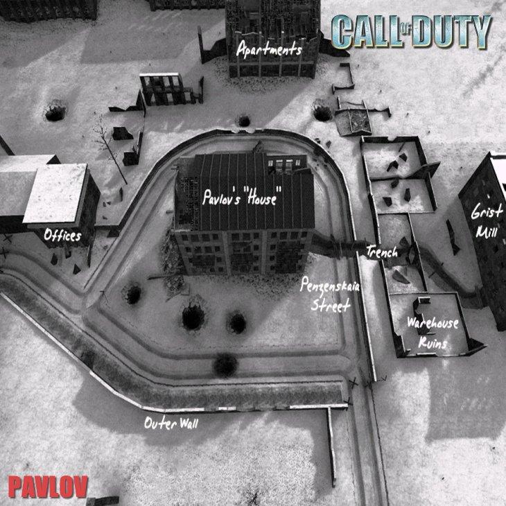 Call of Duty Multiplayer Map Taktik Görünüm Pavlov