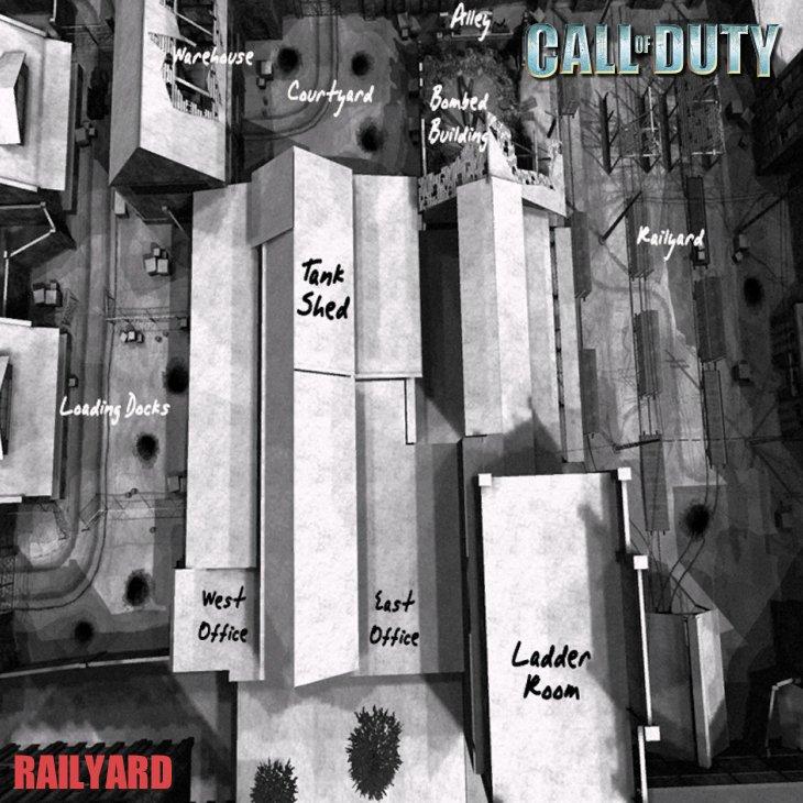 Call of Duty Multiplayer Map Taktik Görünüm Railyard