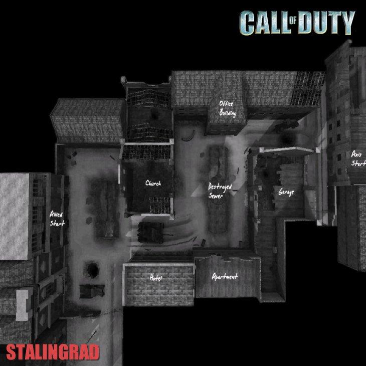 Call of Duty Multiplayer Map Taktik Görünüm Stalingrad