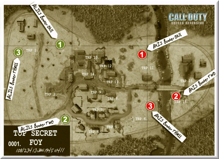 Call of Duty United Offensive Map Foy BAS