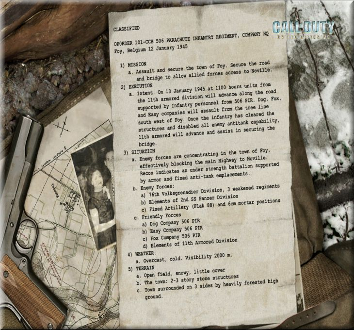 Call of Duty United Offensive Map Foy Cephe Durum Raporu