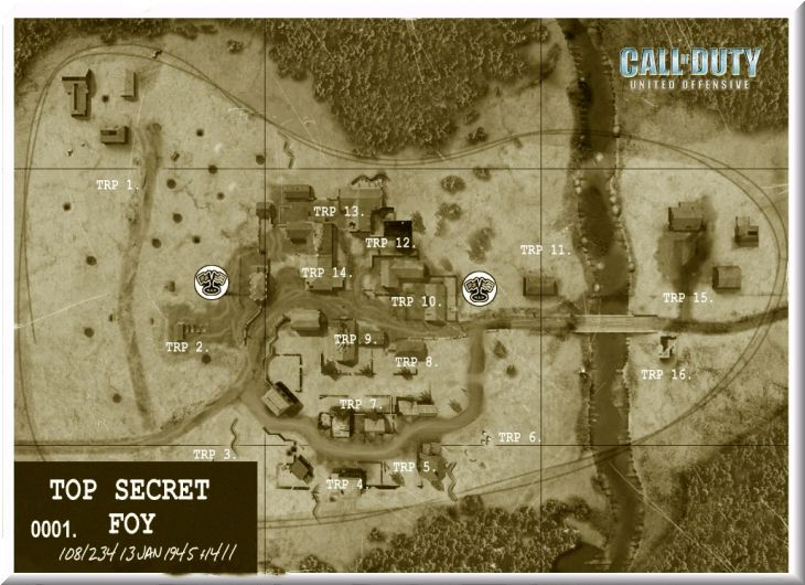 Call of Duty United Offensive Map Foy CTF