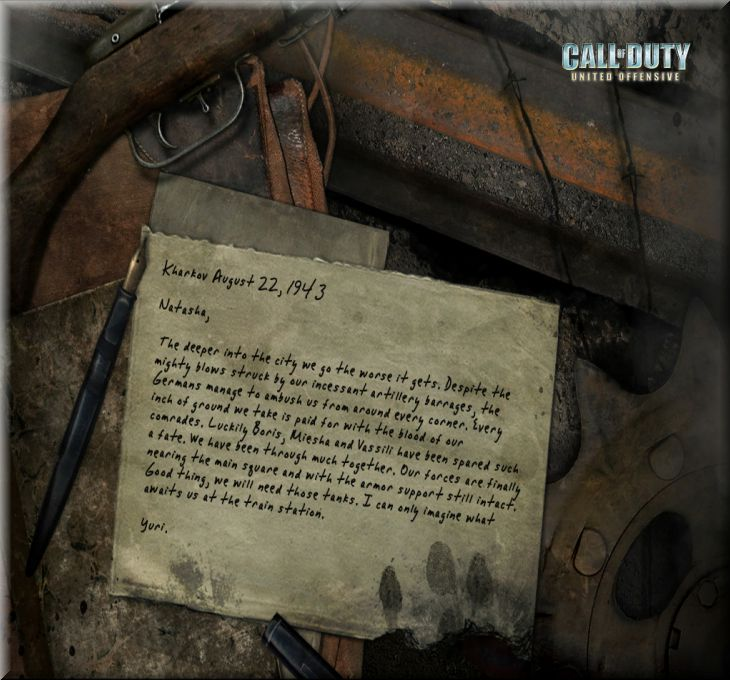 Call of Duty United Offensive Map Kharkov'dan Mektuplar-2