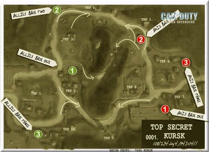 Call of Duty United Offensive Map Kursk BAS