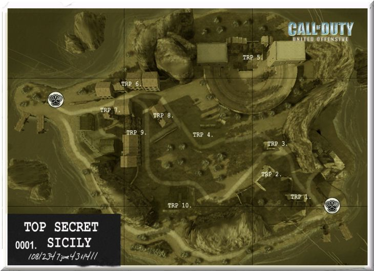 Call of Duty United Offensive Map Sicily CTF