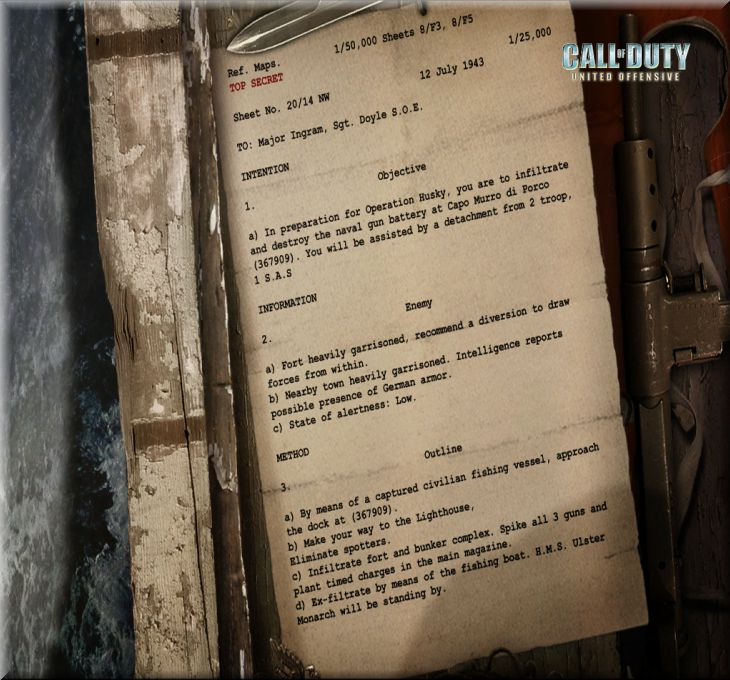 Call of Duty United Offensive Map Sicily Harekat Emri