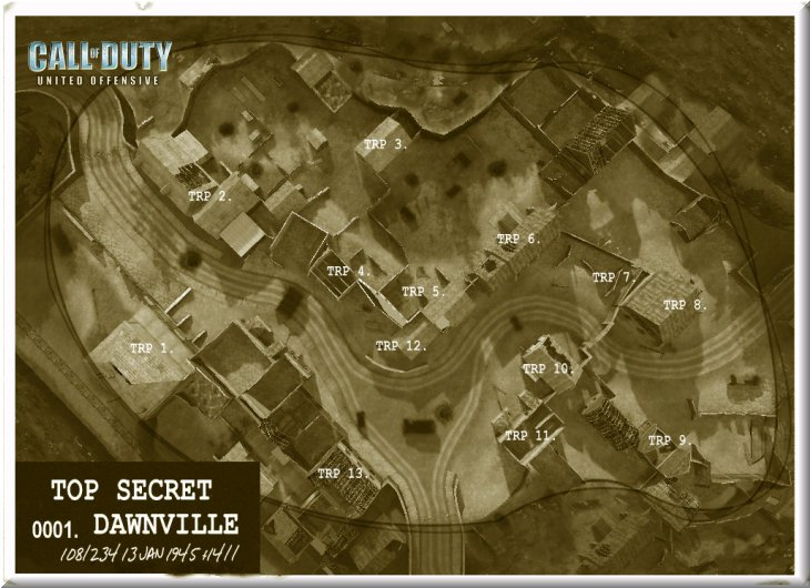 Call of Duty United Offensive Map uo_Dawnville Standart