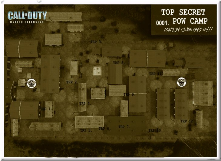 Call of Duty United Offensive Map uo_Powcamp CTF