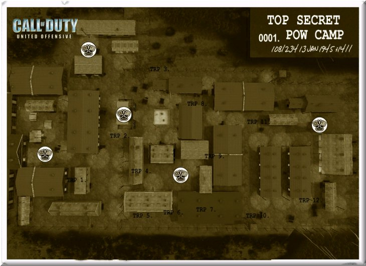 Call of Duty United Offensive Map uo_Powcamp DOM