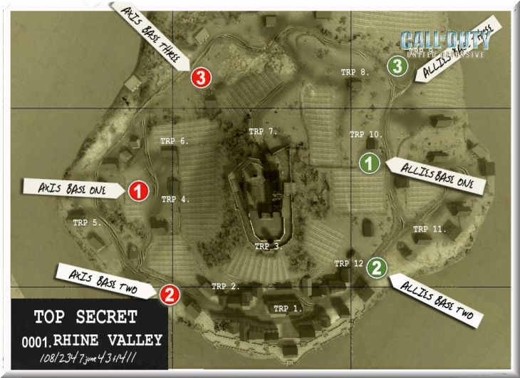 Call of Duty United Offensive Map Rhinevalley BAS