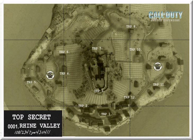 Call of Duty United Offensive Map Rhinevalley CTF