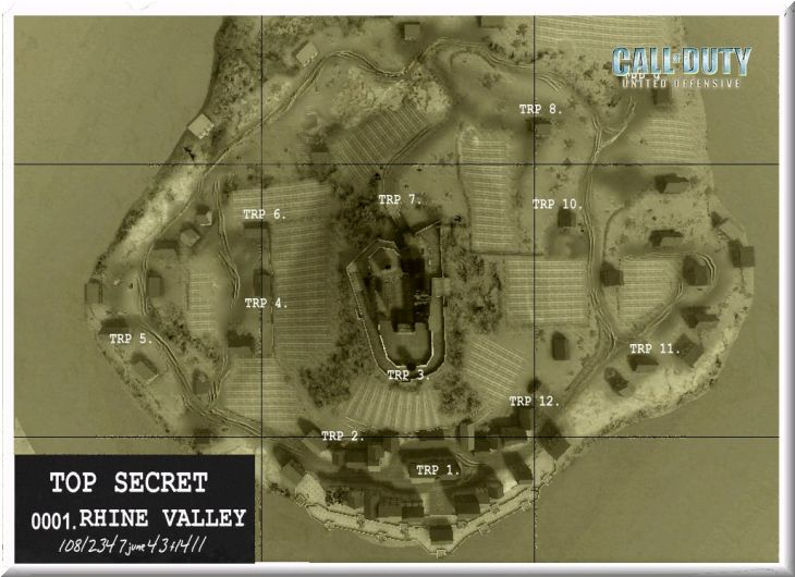 Call of Duty United Offensive Map Rhinevalley Standart