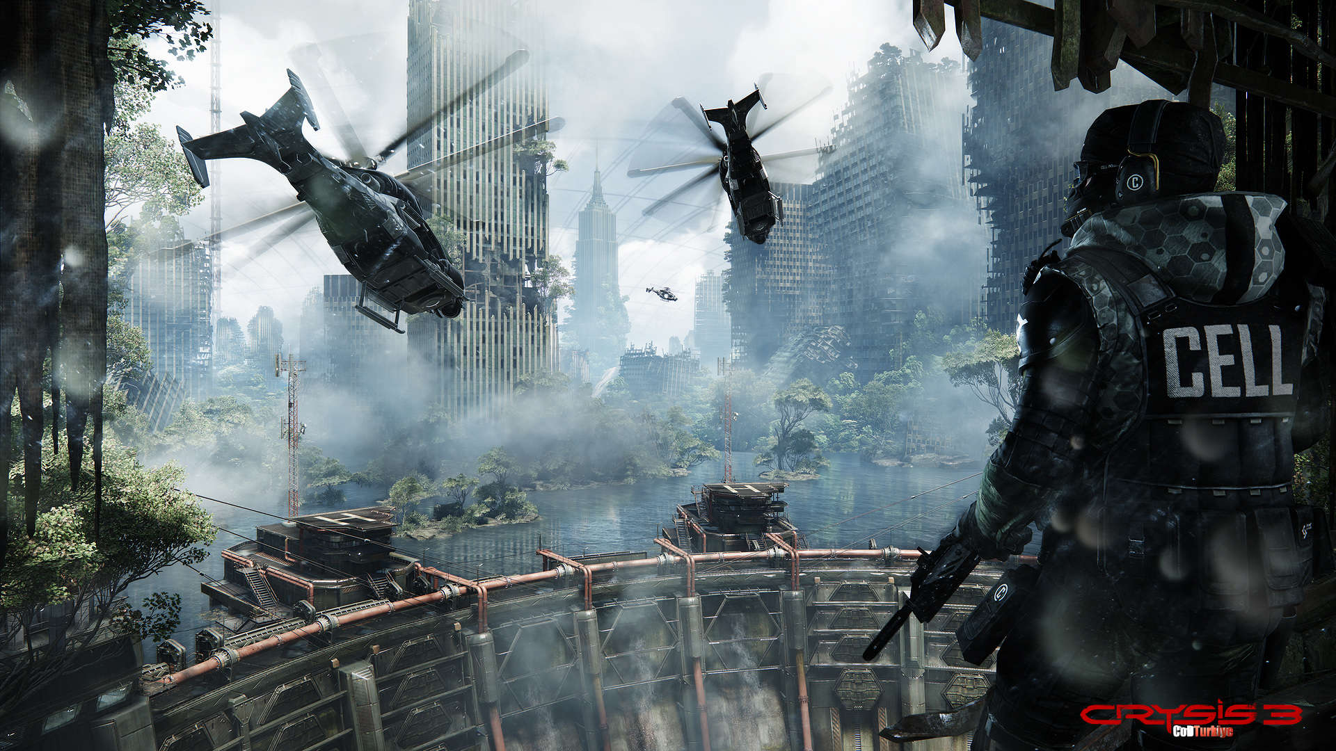 Crysis 3 HD Wallpapers Predator bow helicopter