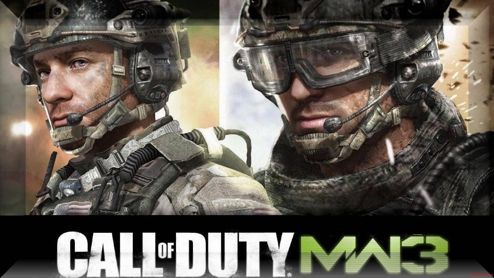 Call of Duty 8 Modern Warfare 3 Wallpaper Kristal Çerçevede