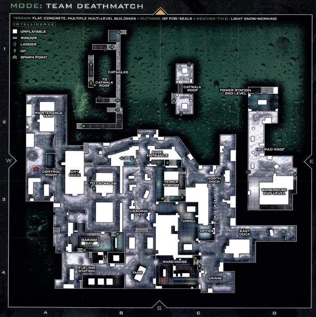 Call of Duty 6 : Modern Warfare 2 Multiplayer Harita Maps Sub-Base