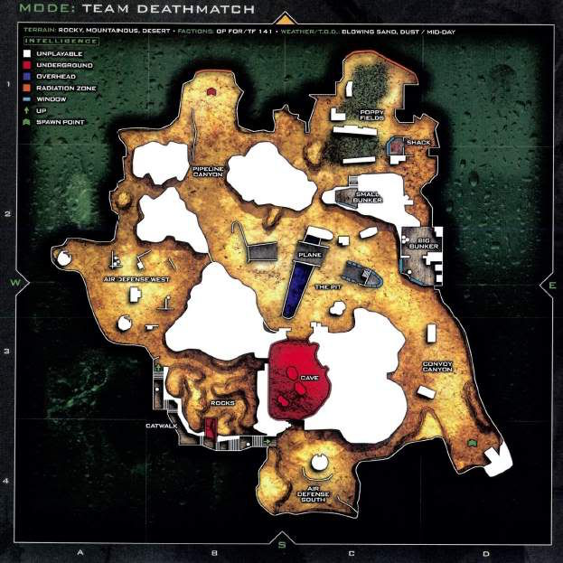 Call of Duty 6 : Modern Warfare 2 Multiplayer Harita Maps Afghan