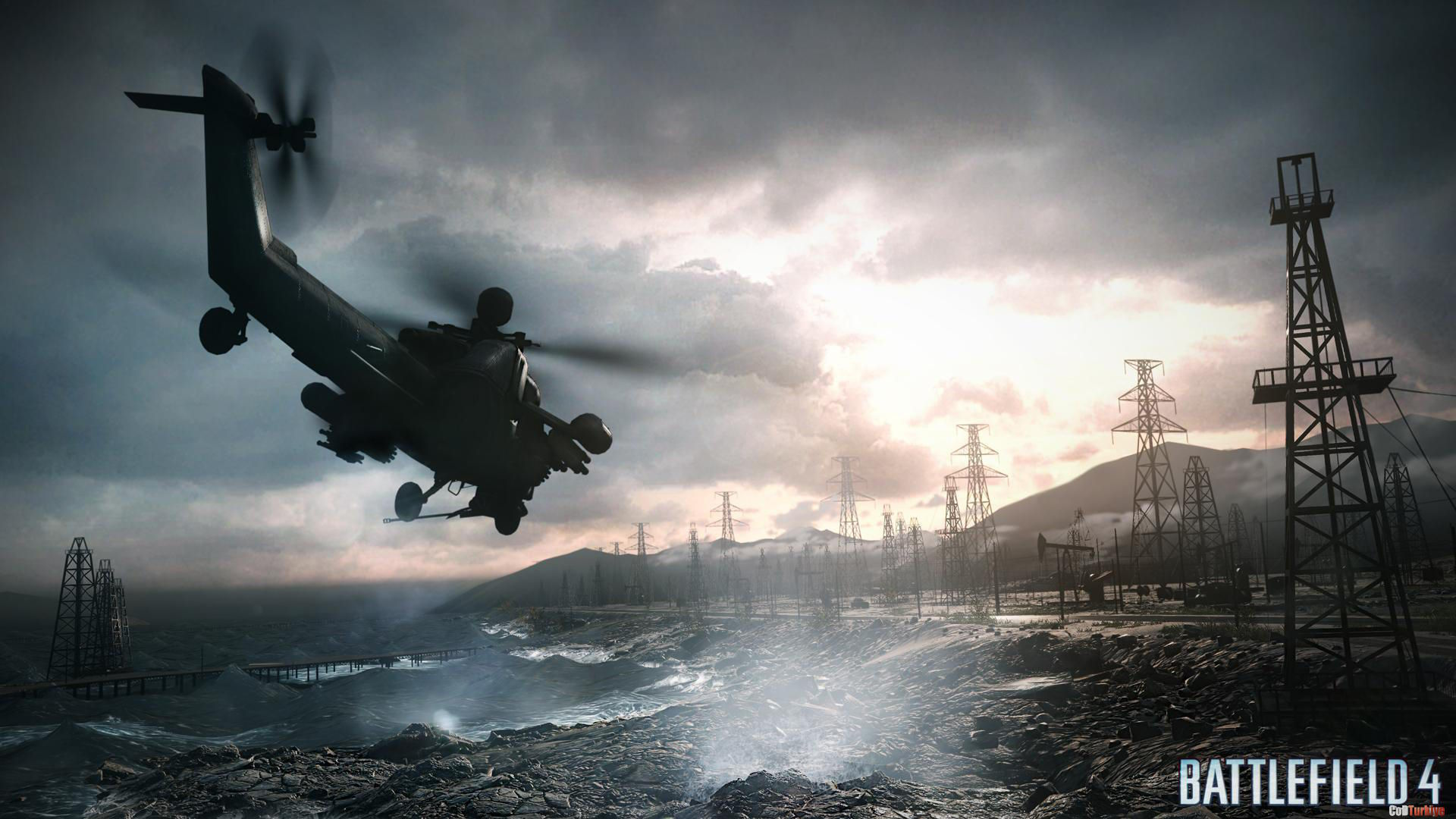 Battlefield 4 Wallpapers Chopper Sea