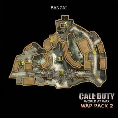Call of Duty 5 World at War Multiplayer Haritalar Maps Banzai