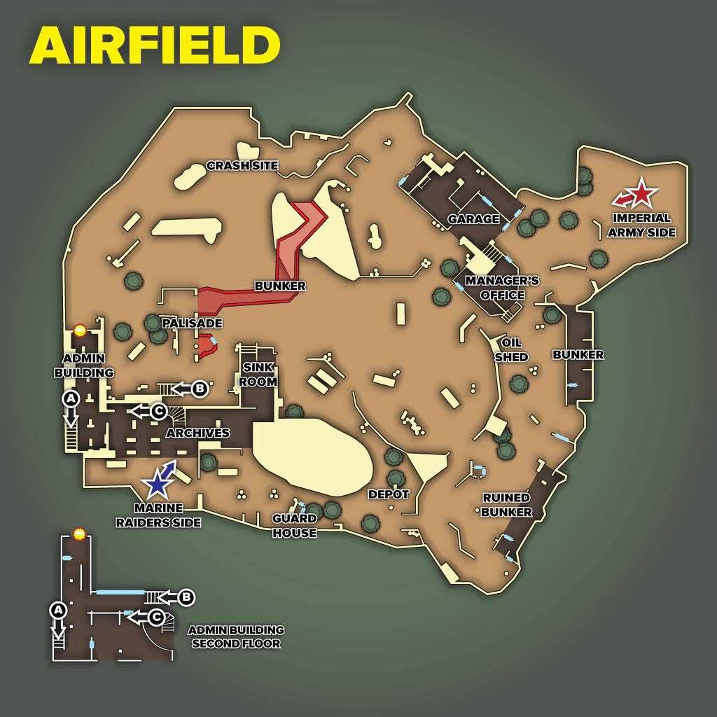 Call of Duty 5 World at War Multiplayer Haritalar Maps Airfield