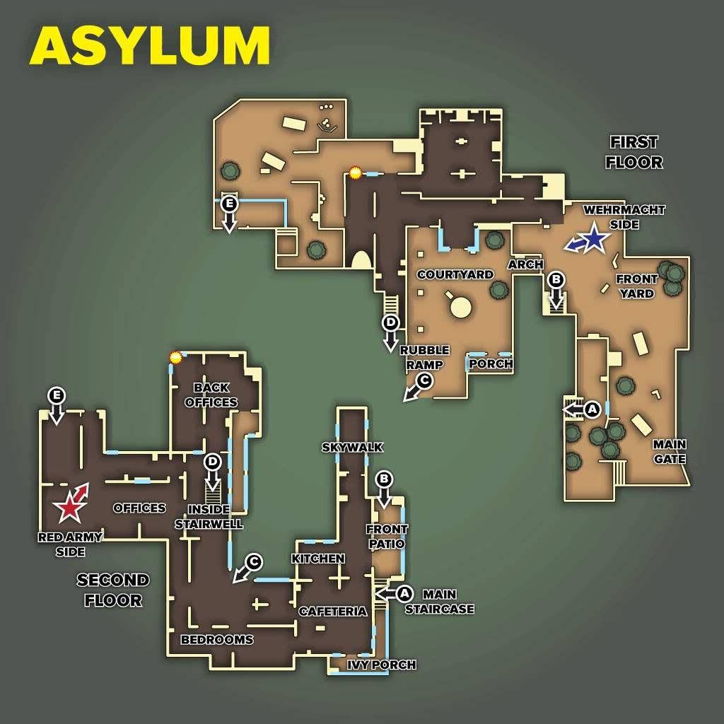 Call of Duty 5 World at War Multiplayer Haritalar Maps Asylum