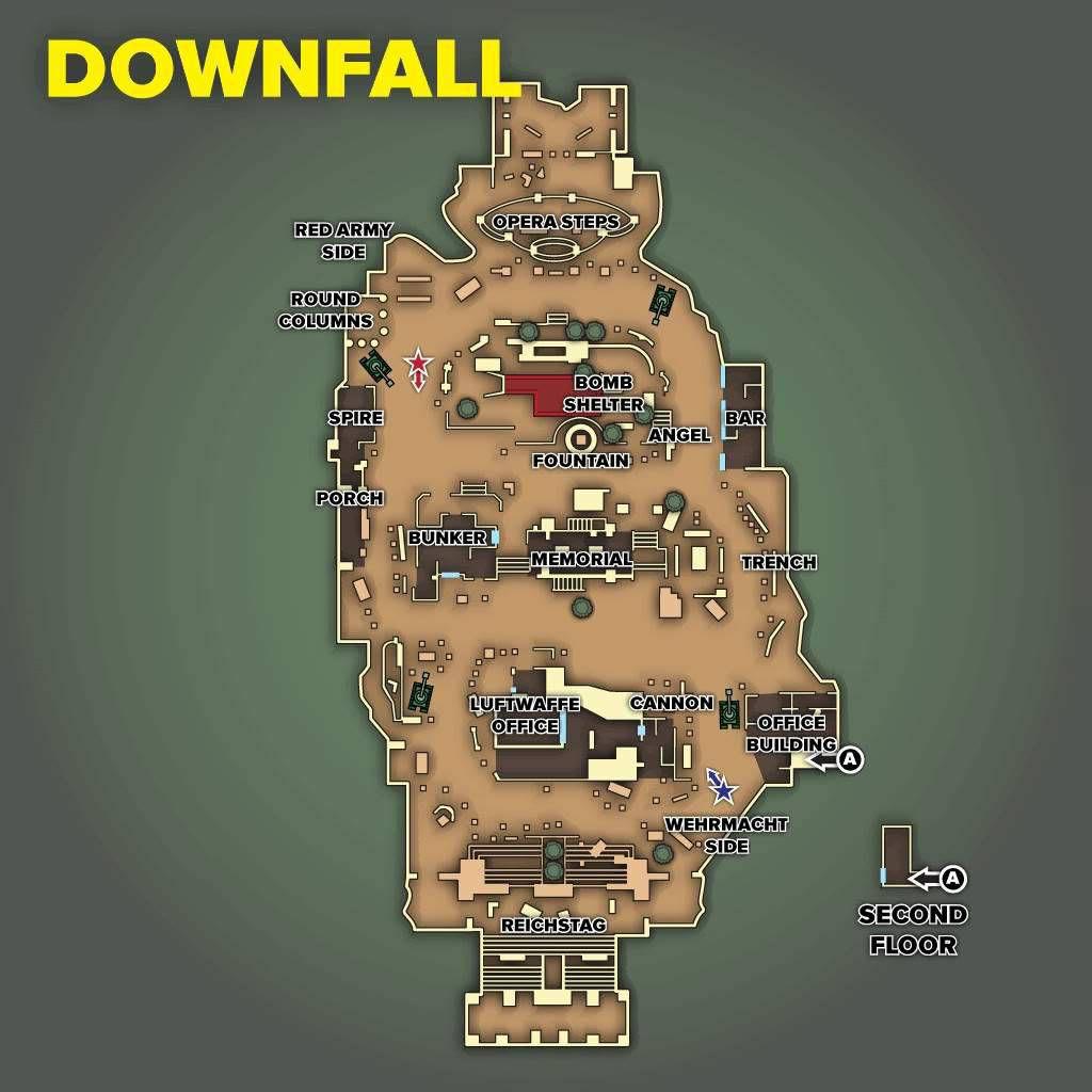 Call of Duty 5 World at War Multiplayer Haritalar Maps Downfall