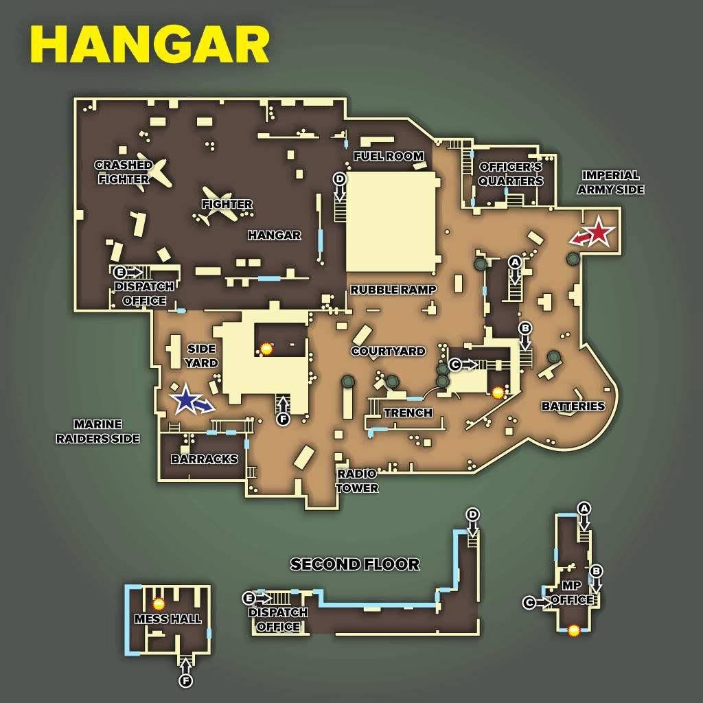 Call of Duty 5 World at War Multiplayer Haritalar Maps Hangar