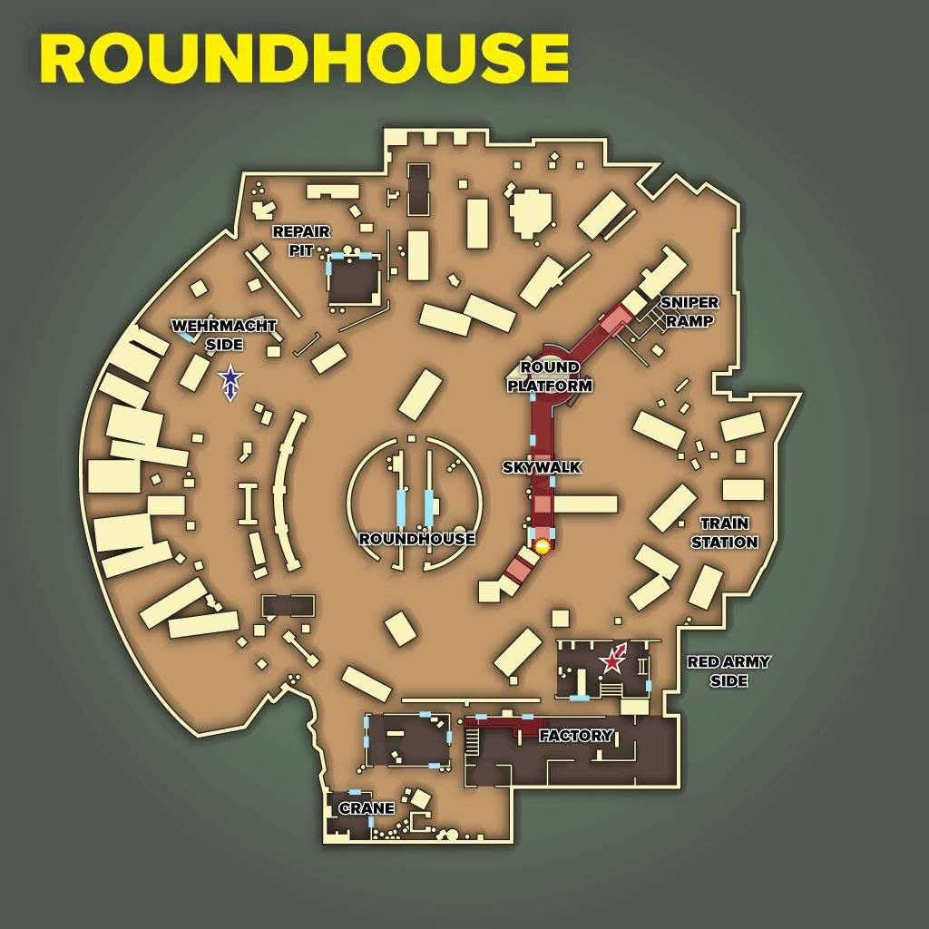 Call of Duty 5 World at War Multiplayer Haritalar Maps Roundhouse