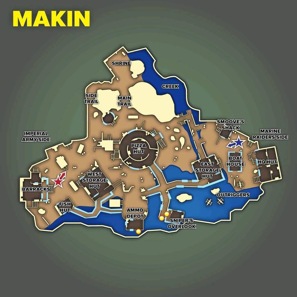 Call of Duty 5 World at War Multiplayer Haritalar Maps Makin