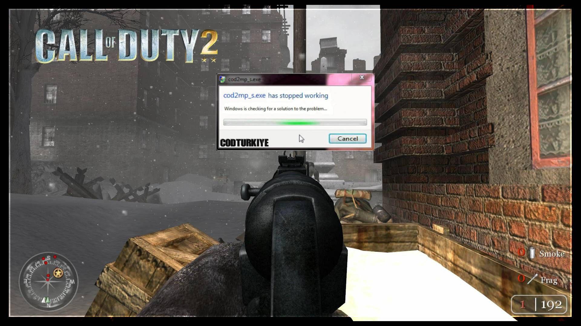 Call of Duty 2 CoD2MP_s.exe Çalışmayı Durdurdu Hatası
