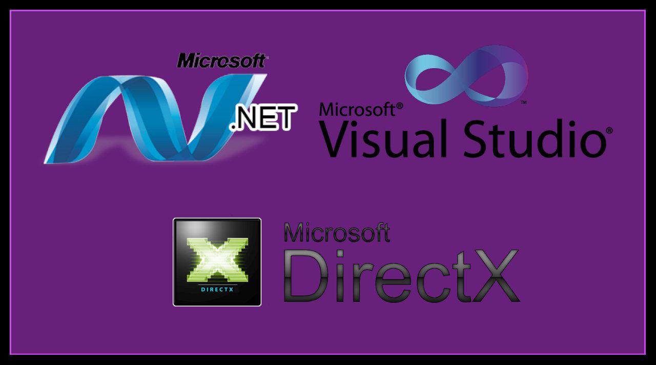 DirectX, .Net Framework, Microsoft Visual Redistributable