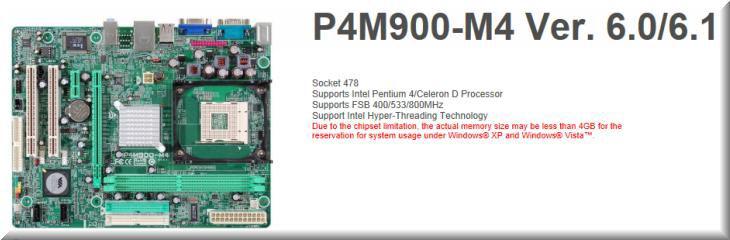 Ana kart uyum sorunu P4M900-M4