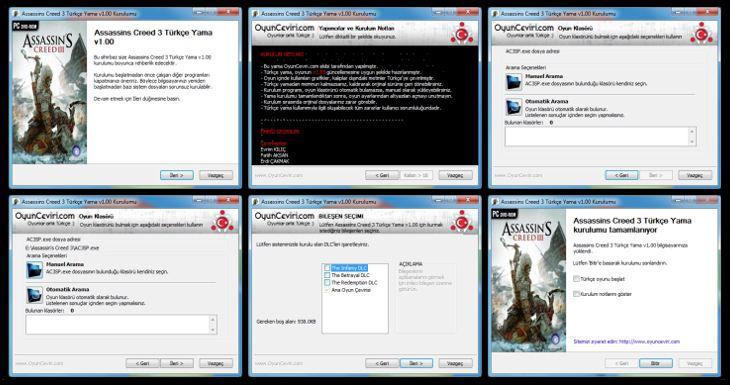 Assassin's Creed 3 Türkçe Yama Kurulum