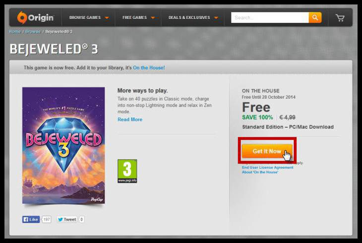 Free Bejeweled 3 Giveaway