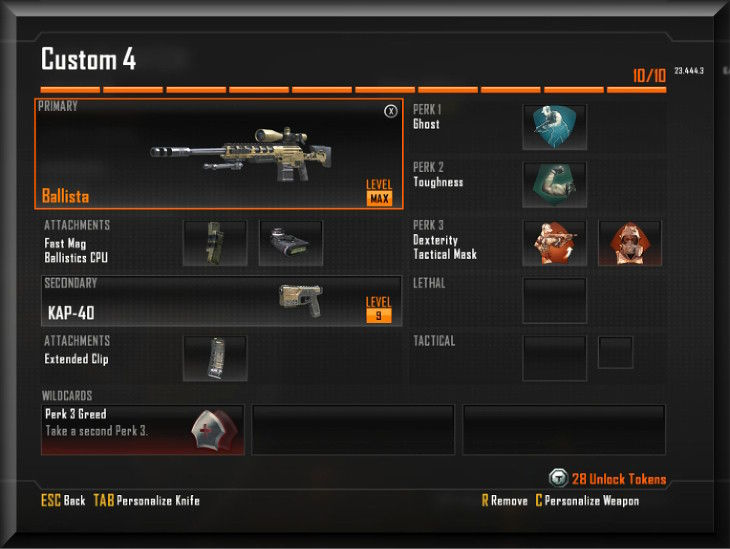 Black Ops 2 Ballista Sniper Custom Perk, Attachments